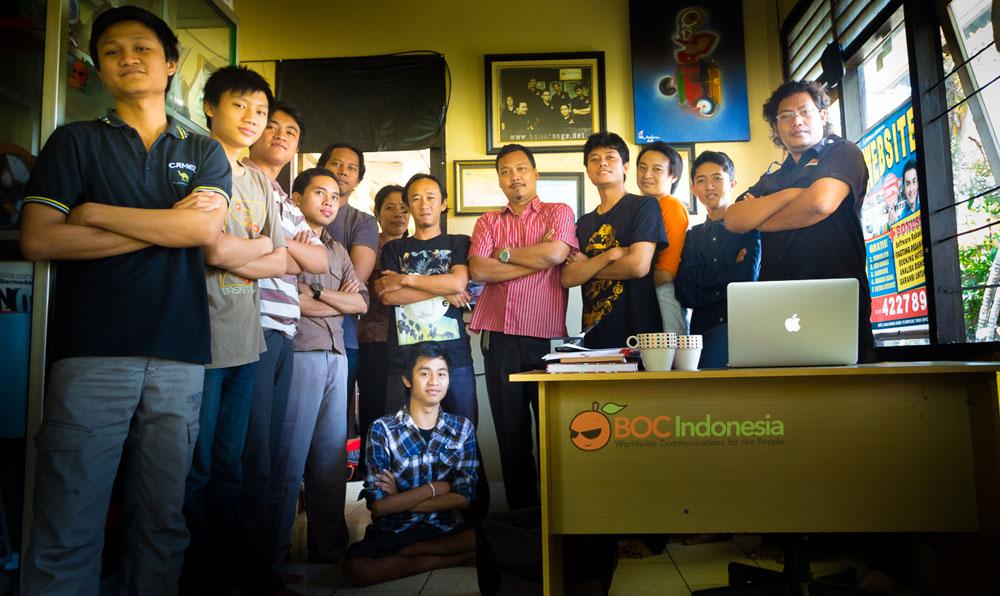 Wahyu Diatmika ketika magang di BOC Indonesia.
