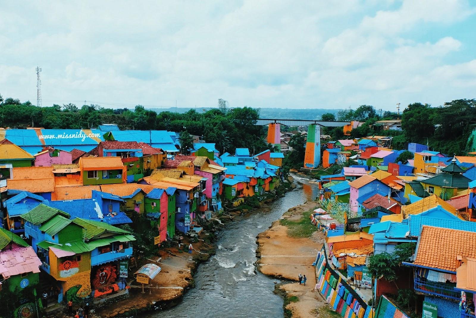 Kampung Jodipan di Malang, Jawa Timur. Foto Miss Nidy.
